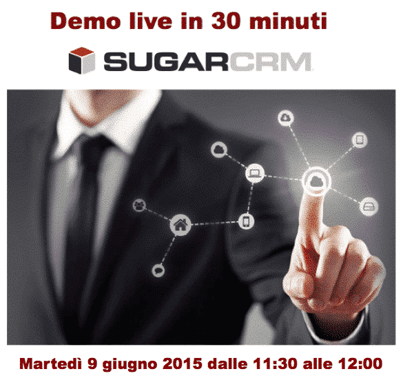 Demo live di SugarCRM in 30 minuti