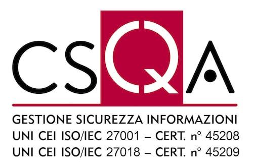 Logo CSQA con indicazione certificazioni