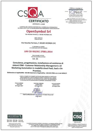 Miniatura certificazione ISO 27001