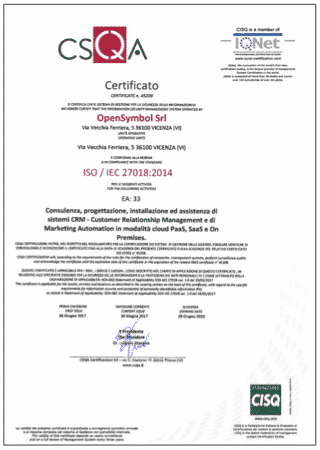 Miniatura certificazione ISO 27018