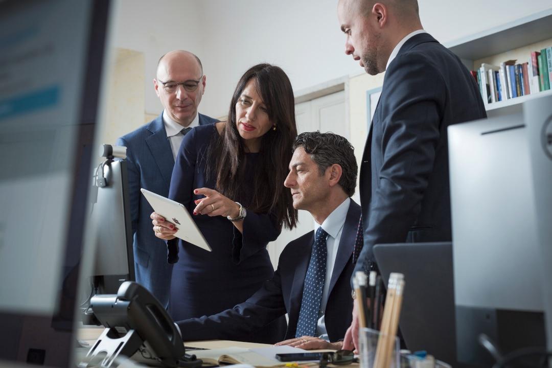 I consulenti di SoldiExpert SCF: da sinistra Salvatore Gaziano, Roberta Rossi, Francesco Pilotti ed Enrico Pozzobon.