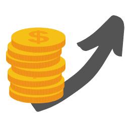 Incremento delle vendite - Icona