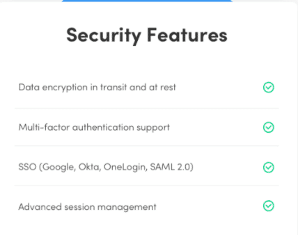 Security features monday.com