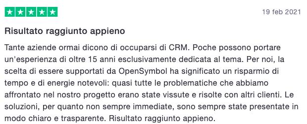 OpenSymbol recensioni CRM Vicenza